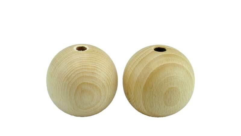 Boules en bois - 25 pces, percées 4 mm, Ø 20 mm