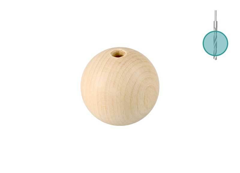 Houten ballen - 25 st., boorgat 6 mm, Ø 25 mm