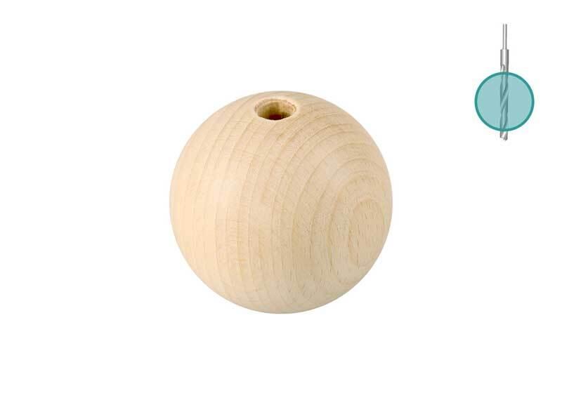 Holzkugeln - 25er Pkg., Ø 30 mm, Bohr. 6 mm
