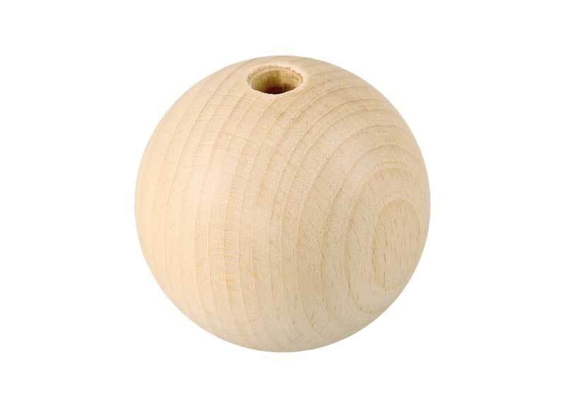 Boules en bois - 10 pces, percées 8 mm, Ø 40 mm
