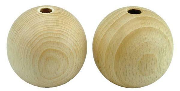 Holzkugel - 10er Pkg., Bohr. 8 mm, Ø 50 mm