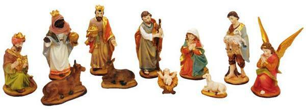 Kerststalfiguren - 9 cm, 12-delig, klassiek