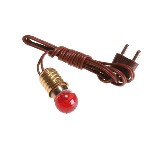 Ampoule avec câble - 4,5 V, rouge