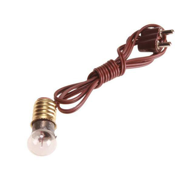 Lämpchen mit Kabel - 4,5 V, weiß