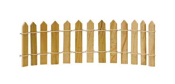 Clôture en bois, 19,5 x 6 cm