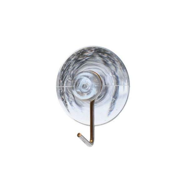 Zuignap met metalen haak, 10 st., Ø 30 mm