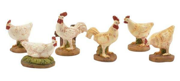 Set de poules, 6 pces