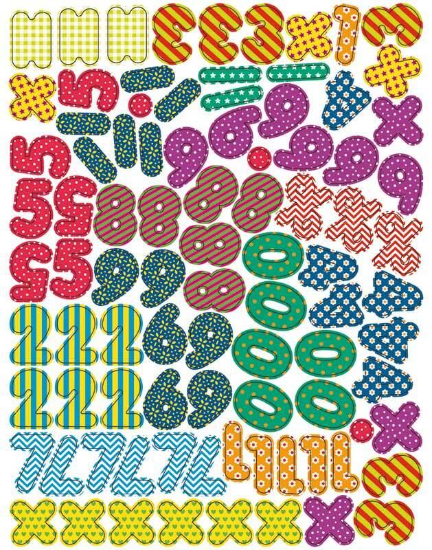 Chiffres & symboles aimantés, 90 pces