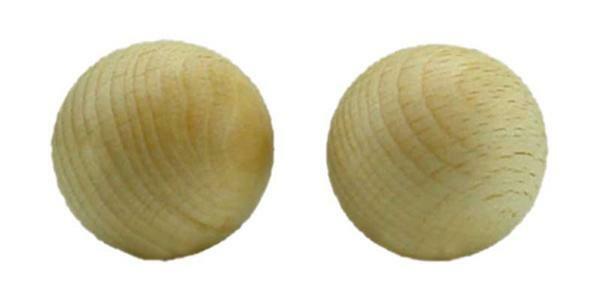 Boules en bois - 25 pces, non percées, Ø 20 mm