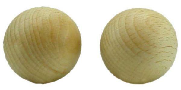 Boules en bois - 25 pces, non percées, Ø 25 mm