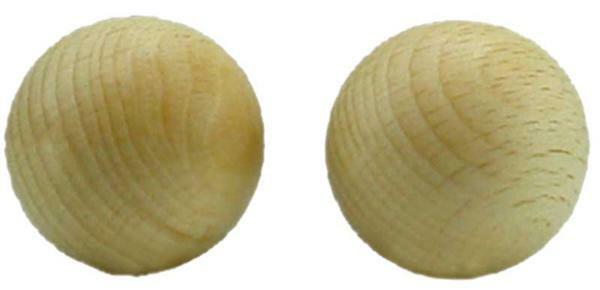 Boules en bois - 10 pces, non percées, Ø 40 mm