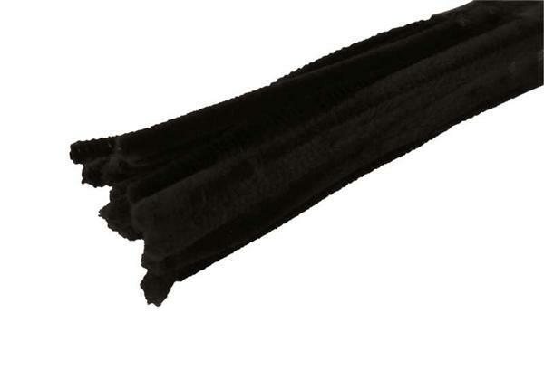 Chenilledraad - 10 st., 50 cm, zwart