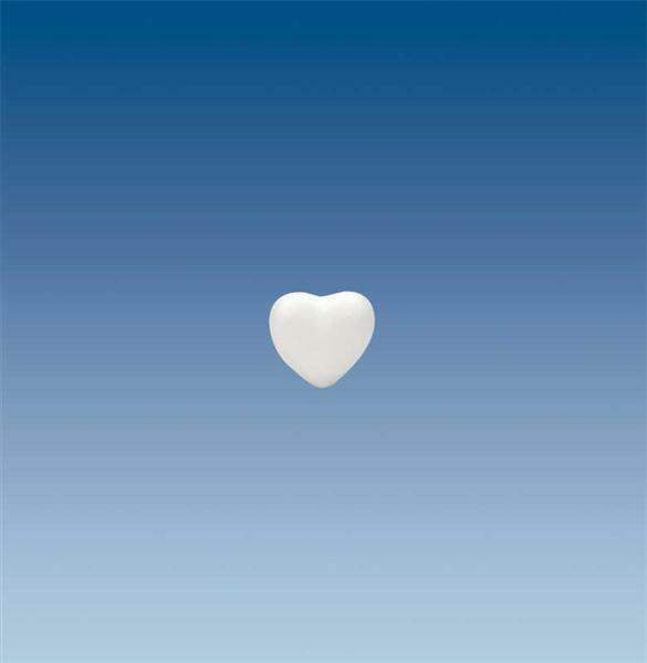 Polystyrène expansé - petit cœur, 5 cm