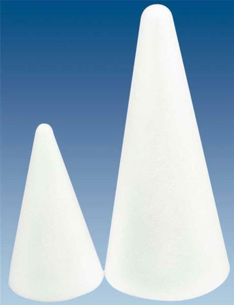 Styropor - Kegel, Ø 7 x 12,5 cm