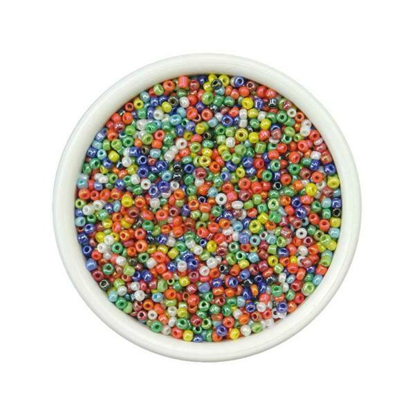 Rocailles Ø 1,5 - 2,6 mm - 100 g, perlmuttöne Mix