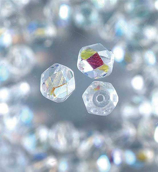 Perles de verre polies Ø 4 mm, transparent