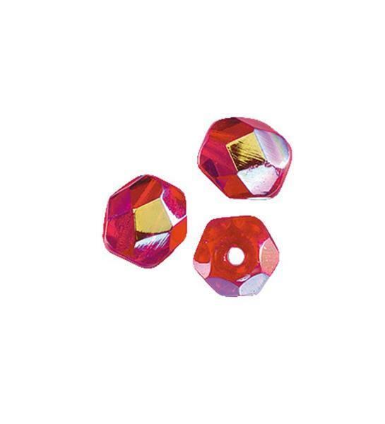 Geslepen glaskralen - Ø 4 mm, rood