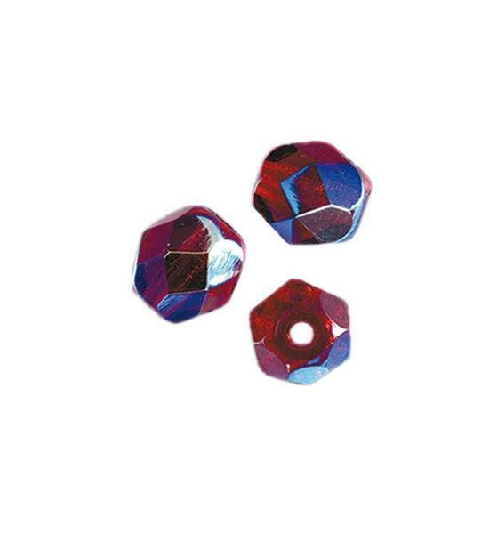 Perles de verre polies Ø 4 mm, grenade