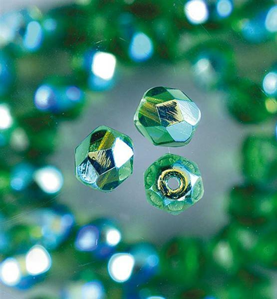 Glasschliffperlen Ø 4 mm, grün