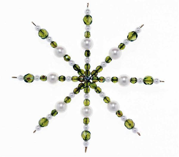Geslepen glaskralen - Ø 4 mm, groen