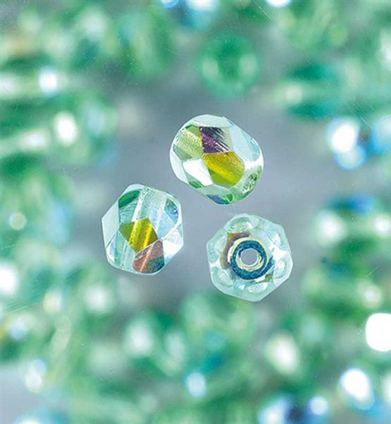 Glasschliffperlen Ø 4 mm, hellgrün