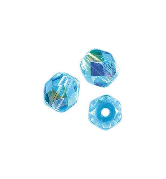 Perles de verre polies Ø 4 mm, aqua