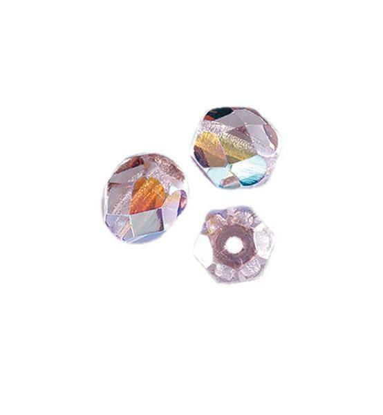 Geslepen glaskralen - Ø 4 mm, lila