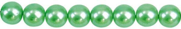 Perles de verre cirées - Ø 4 mm,120 pces, turquois