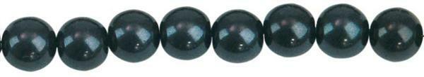 Perles de verre cirées - Ø 4 mm, 120 pces, noir
