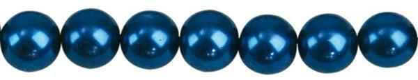 Glasparels - Ø 6mm, 100 st., blauw