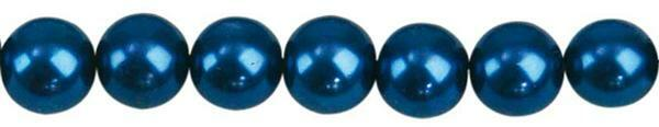 Glaswachsperle Ø 6 mm, 100 Stk. - blau