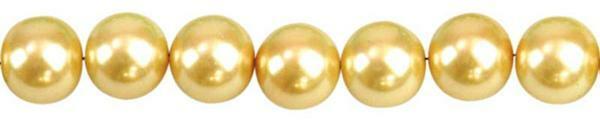 Glasparels - Ø 6mm, 100 st., zonnegeel