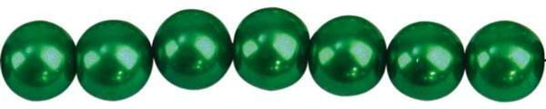 Glaswachsperle Ø 6 mm, 100 Stk. - dunkelgrün