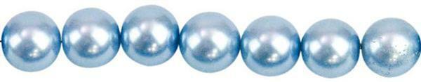 Glaswachsperle Ø 6 mm, 100 Stk. - hellblau