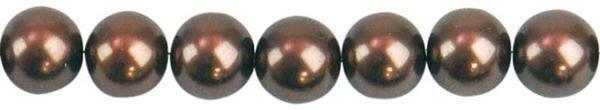 Glaswachsperle Ø 6 mm, 100 Stk. - braun