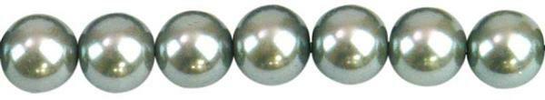 Glaswachsperle Ø 6 mm, 100 Stk. - silber
