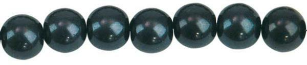 Glaswachsperle Ø 6 mm, 100 Stk. - schwarz