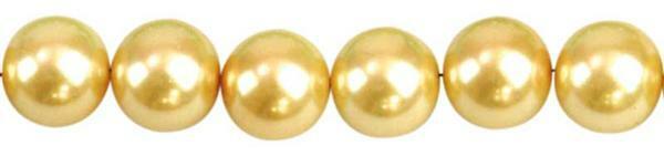 Perles de verre cirées - Ø 8 mm, 50 pces, jaune so