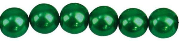 Glaswachsperle Ø 8 mm, 50 Stk. - dunkelgrün