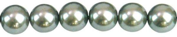 Perles de verre cirées - Ø 8 mm, 50 pces, argent