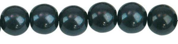 Perles de verre cirées - Ø 8 mm, 50 pces, noir