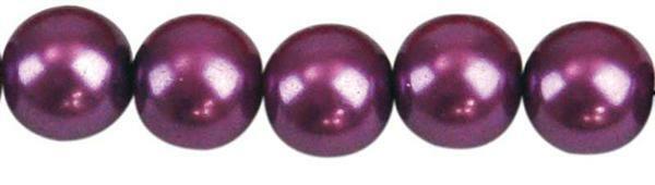 Glaswachsperle Ø 10 mm, 30 Stk. - violett
