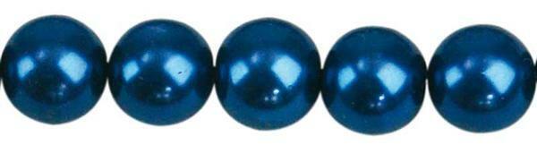 Glasparels - Ø 10 mm, 30 st., blauw