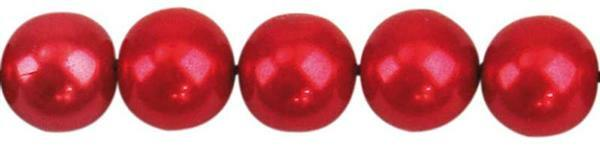 Glaswachsperle Ø 10 mm, 30 Stk. - rot