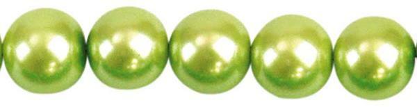 Glaswachsperle Ø 10 mm, 30 Stk. - pistazie