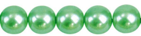 Glaswachsperle Ø 10 mm, 30 Stk. - hellgrün