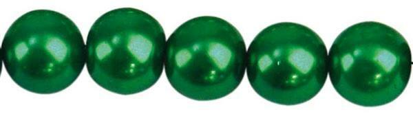 Glaswachsperle Ø 10 mm, 30 Stk. - dunkelgrün