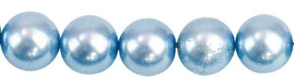Glasparels - Ø 10 mm, 30 st., lichtblauw
