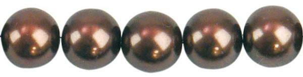 Glaswachsperle Ø 10 mm, 30 Stk. - braun