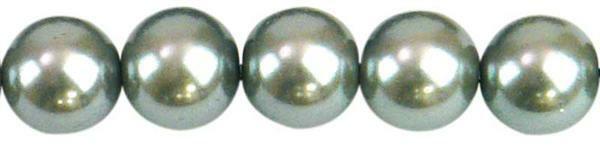 Perles de verre cirées - Ø 10 mm, 30 pces, argent